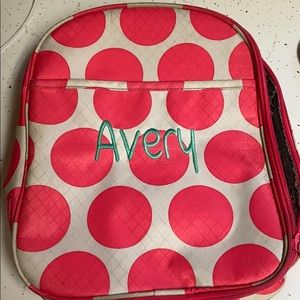 "Cute ""Avery"" insulated lunch bag"
